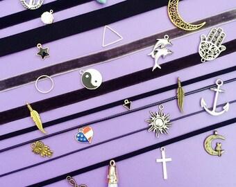 CHOOSE A NECKLACE, Velvet Choker Necklace, Velvet Choker, Choker, Velvet Necklace, Choker Pendant, Choker Necklace, Gift Necklace, Chokers