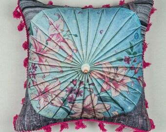Kissenhülle Kissenbezug Cushion Cover Pillow Cover Asian Umbrella