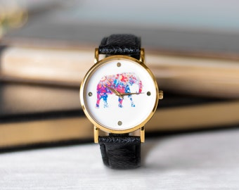 Elephant Multi Floral Watch