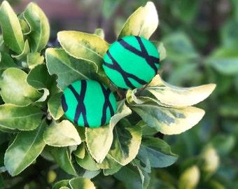 Renewal Series - GreenX Button Earrings