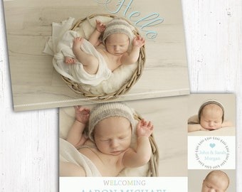 Photo Birth Announcement | Baby Birth Announcement | A6 | Double Sided | Card stock 350gsm | Boy | Printed Announcement | Boy Announcement