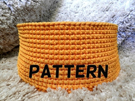 Crochet basket pattern - crochet pattern - pattern pdf - toy basket pattern - round basket pattern - instant digital download