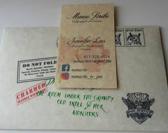 Handwritten Magical School Hogwarts Acceptance Letter Inspired