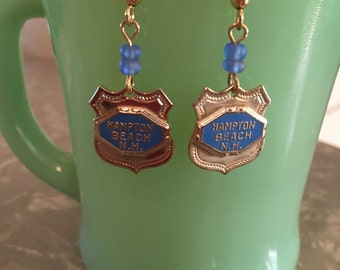 Vintage Hampton Beach New Hampshire charm made into cute earrings