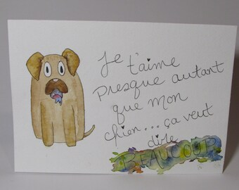 Dog love card