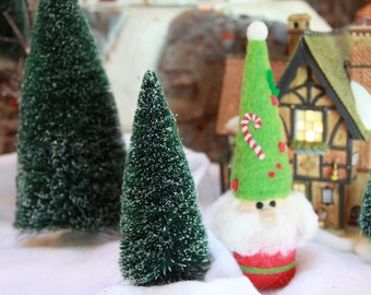 Handcrafted Needle Felted Wool Christmas Doll-Jolly Saint Nick
