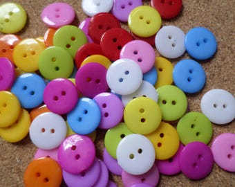 12mm Round acrylic buttons, Round buttons, Acrylic buttons, Craft buttons, Sewing buttons, Buttons, Scrapbooking buttons