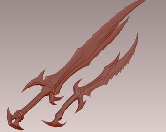 Skyrim cospaly Daedric sword and Great sword patterns for EVA Foam building
