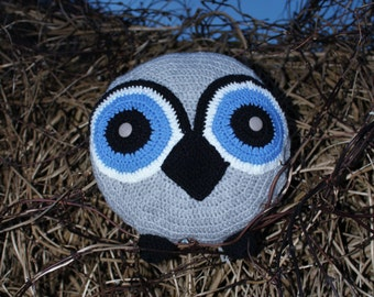 Crochet Owl Cushion, Owl Cushion, Novelty Cushion, Crochet, Pillow, Crochet Owl Pillow