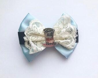 Alice in Wonderland Hairbow - Alligator Clip