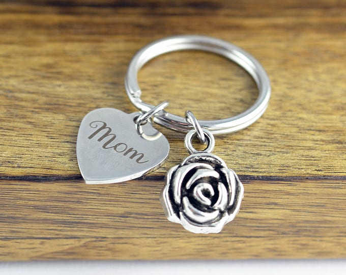 Personalized Keychain - Personalized Mom Gifts - Gifts for Mom -Mothers Day Gift - Mom Keychain - Grandma's Keychain - Mothers Keychain
