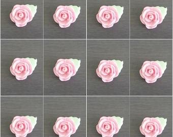 12 x Rose Cake Decorations, Rose cake Topper, fondant rose toppers, edible rose decorations, cupcakes toppers