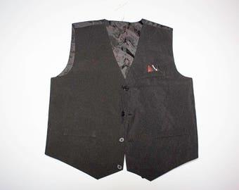 Vintage waistcoat vest black with details size XS