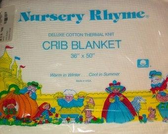 Nursery Rhyme Crib Blanket