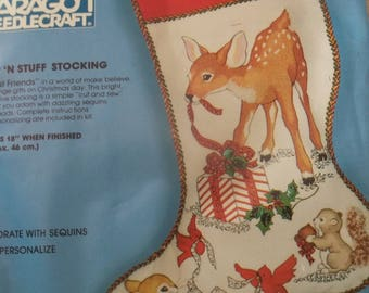 "Forest Friends 18"" Christmas Stocking Kit"