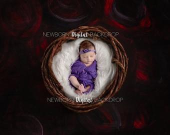Newborn Digital Backdrop - Valentines Day Flower