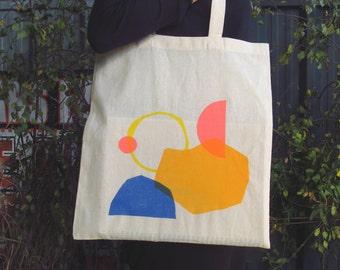 Colourful Hand Screen Printed Tote Bag