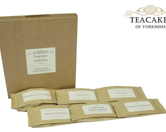 Caffeine Free Tea Taster Samples Loose Leaf 7 x 10g FAST & FREE UK Post