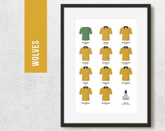 Wolves 1954 Division 1 Winners Team Print, Football Poster, Football Gift, FREE UK Delivery