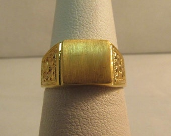 18K Solid Gold I.D. Ring, Petite Size: 5.25 #R178