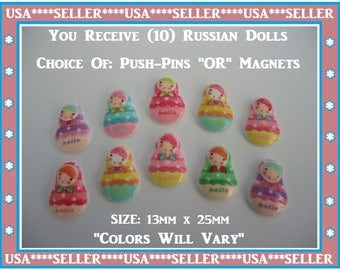 Russian Dolls Neodymium Magnets Russian Dolls Push Pins Russian Dolls Message Board Push Pin Thumb Tack Sweet Office Gift Holds Message Note