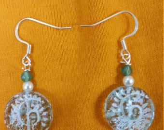 Spiral glass earrings