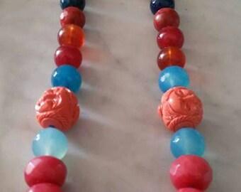 Multicolor Necklace of semiprecious stones!