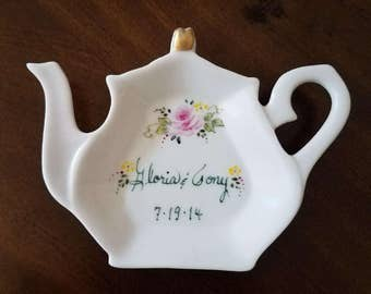 Handpainted Porcelain Teapot Bridal Shower Favors