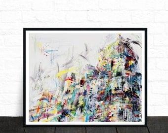 Abstract art print, colourful wall art, modern art, wall art, poster art, fine art prints, contemporary art, abstract painting, art prints