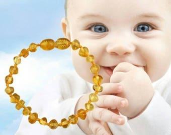 Amber teething bracelet/anklet