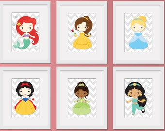 Little Disney Princess Wall Art Digital Prints