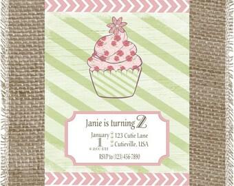 Printable Girls Birthday Invitation