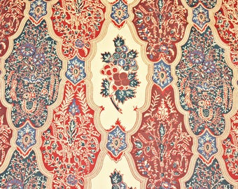 Le Manach Batik Raisin Cotton Designer Fabric by the yard