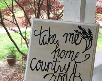 Country Roads sign