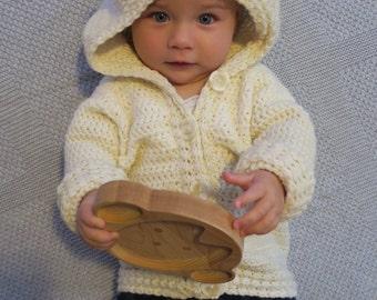 Woollen Bear Hooded Cardigan