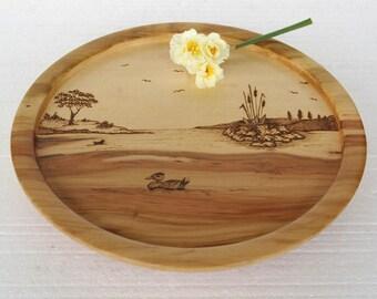 Chestnut platter / Wooden platter / Wooden tray / Chestnut tray