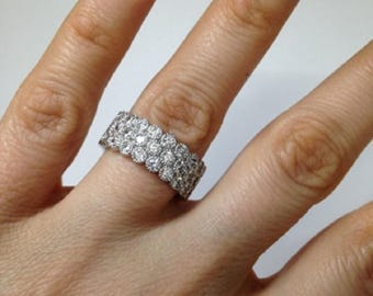 Hand-Setting Eternity Band Vintage Style, Bezel Setting, .925 Sterling Silver