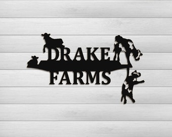 Clingermans Holstien Cows Farm and Ranch Outdoor Personalize Sign