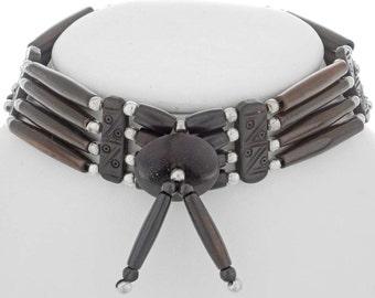 Handmade Indian Style Bone Choker Traditional Four Strand