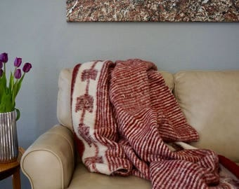 "Crimson Wool ""Momostenango"" Blanket"