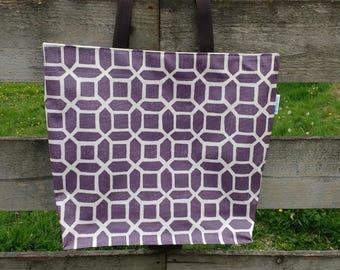 Oilcloth shopping bag, tote bag, market bag