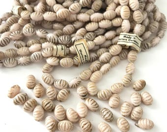 Vintage Egyptian Revival Glass Beads Made in Western Germany (18) // Neiger Style Egyptian Glass Beads