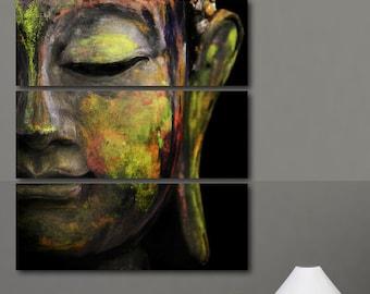 Four Panel Tranquil Buddha Print