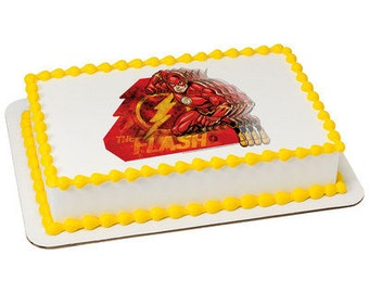 Justice League In a Flash Edible Cake Topper