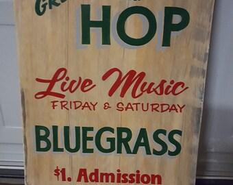 Green Mountain Hop sign