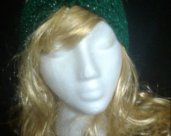 SALE!!! Dark Green Metallic Ear Warmer Headband