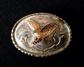 Vintage Sterling Silver Plated Belt Buckle