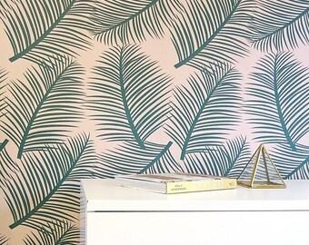 Wallpaper Samples kids wall decor tropical palm leaf trees wall decor