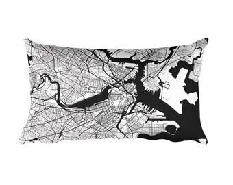 Boston Pillow, Boston Decor, Boston Throw Pillow, Boston Gift, Boston Map, Boston Art, Boston MA, Boston, Boston Massachusetts, Cushion