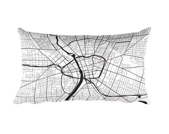 Rochester Pillow, Rochester Decor, Rochester Throw Pillow, Rochester Gift, Rochester Map, Rochester Art, Rochester New York, Cushion, Pillow